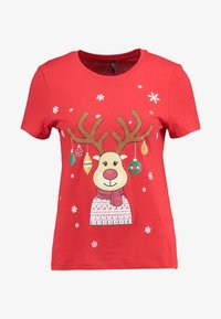 ONLY - ONLCHRISTMAS BLING BOX - T-shirts med print - goji berry - 4