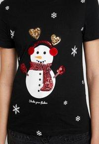 ONLY - ONLCHRISTMAS BLING BOX - T-shirts med print - black - 4