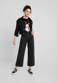ONLY - ONLCHRISTMAS BLING BOX - T-shirts med print - black - 1