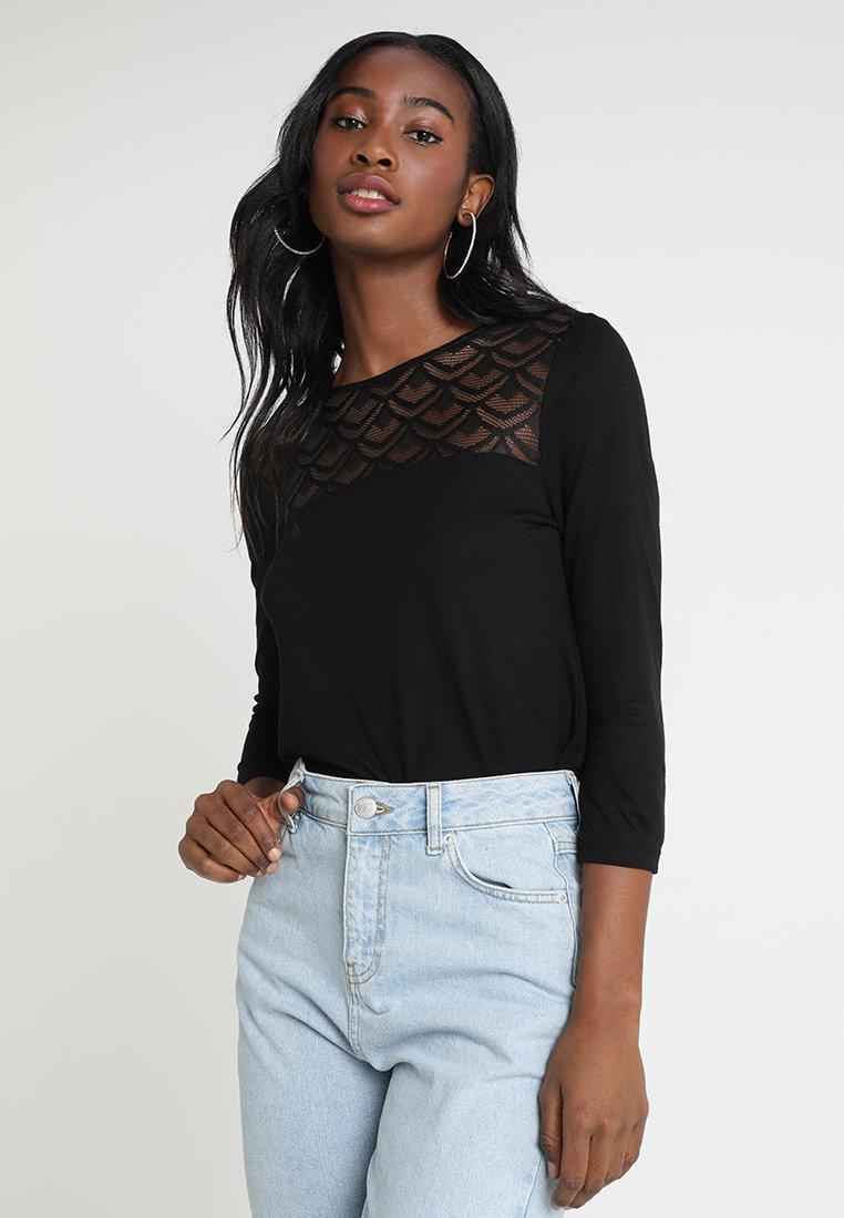 ONLY - ONLNICOLE - Camiseta de manga larga - black