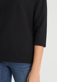 ONLY - ONLLILLI - Top sdlouhým rukávem - dark grey melange/black - 5