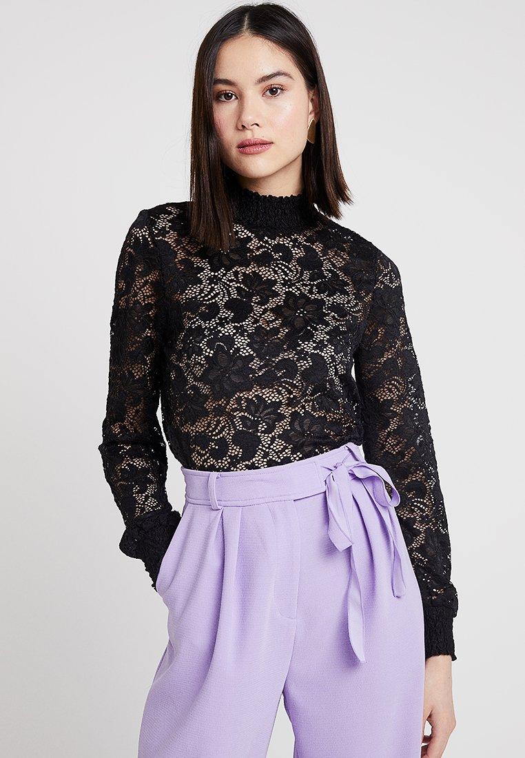 ONLY - ONLALBA HIGH NECK - Bluse - black