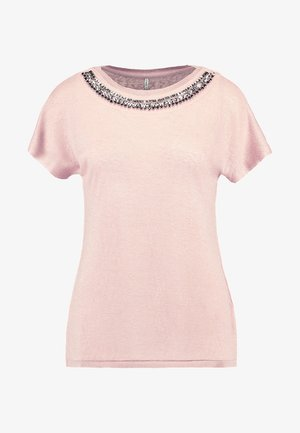 ONLRILEY BLING - Camiseta estampada - misty rose/embellishment
