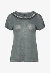 ONLY - ONLRILEY BLING - T-shirt con stampa - balsam green/embellishment - 4