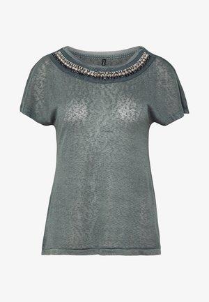 ONLRILEY BLING - Print T-shirt - balsam green/embellishment