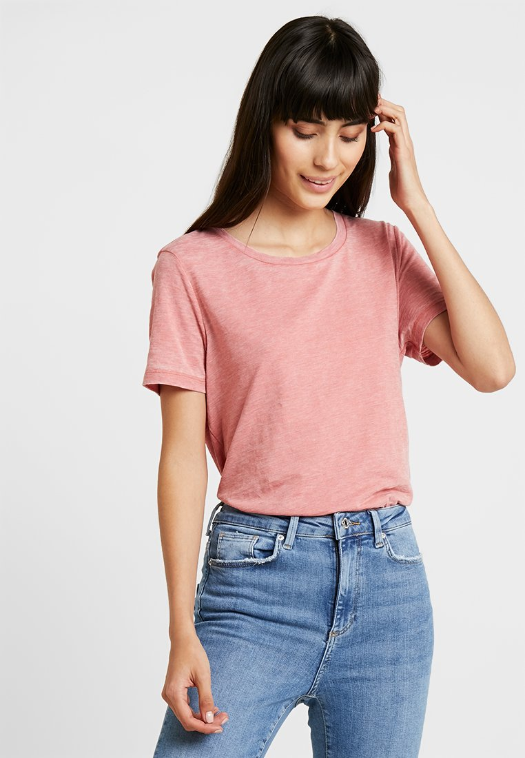ONLY - ONLMICHELLE BURN OUT TEE - Basic T-shirt - canyon rose