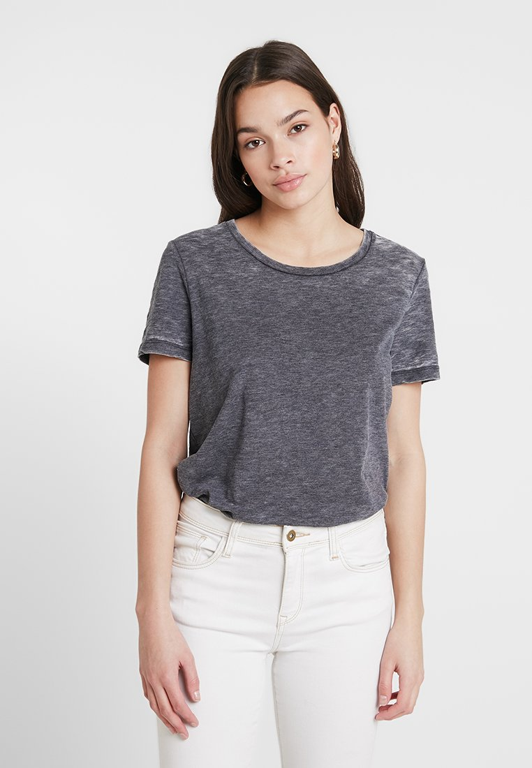 ONLY - ONLMICHELLE BURN OUT TEE - T-Shirt basic - night sky