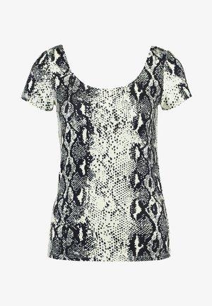 ONLSNAKELOVE U NECK - T-shirt z nadrukiem - black