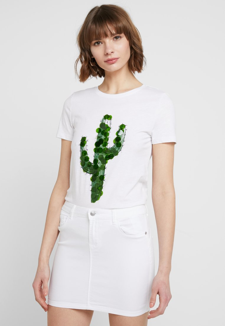 ONLY - T-shirt con stampa - bright white