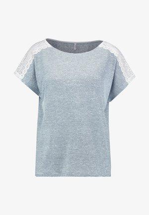 ONLMIRA - T-shirt imprimé - insignia blue/cloud dancer