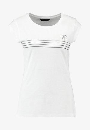 ONYBINE BOX - Camiseta estampada - bright white/black