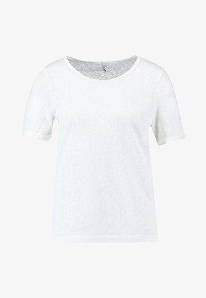 ONLRILEY O NECK - T-shirt basic - cloud dancer