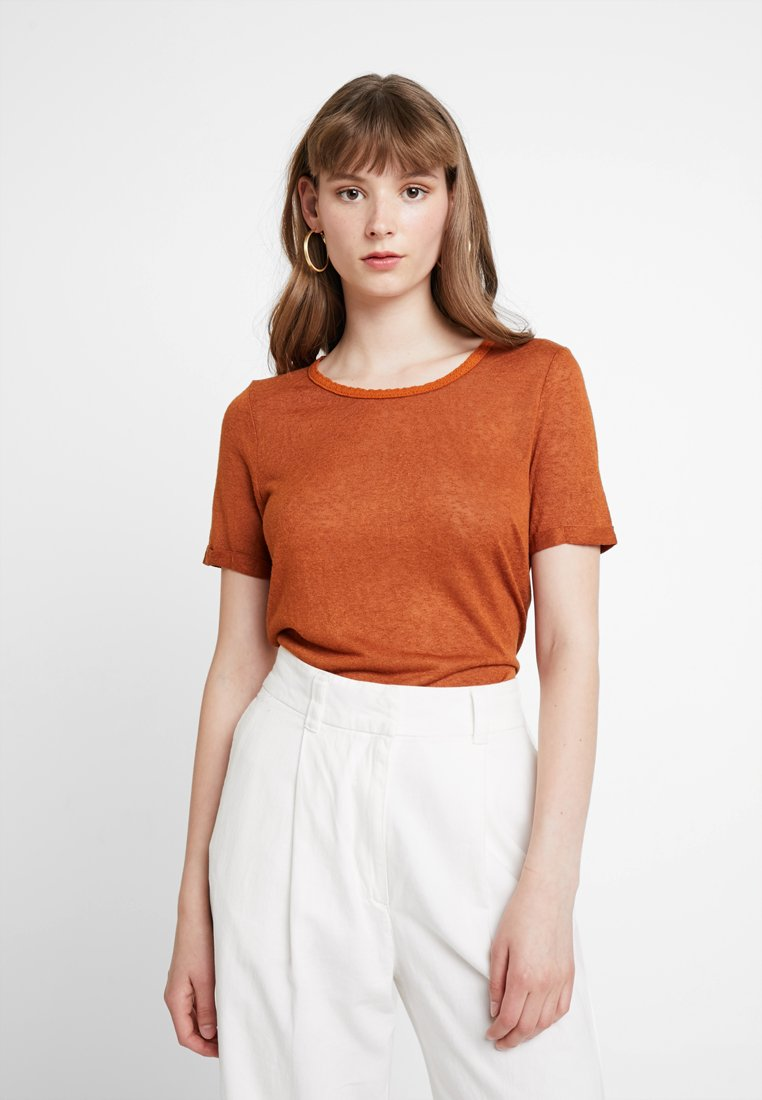 ONLY - ONLRILEY O NECK - Basic T-shirt - sugar almond