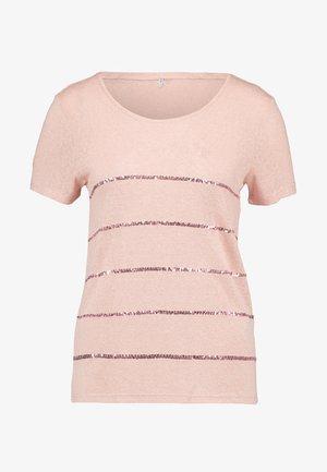 ONLRILEY SEQUINS - Print T-shirt - misty rose