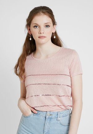 ONLRILEY SEQUINS - Triko s potiskem - misty rose