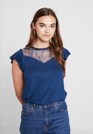 ONLAMILA CAP SLEEVE - Print T-shirt - insignia blue