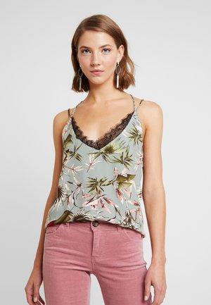 ONLSALLY SINGLET - Top - balsam green/tropical