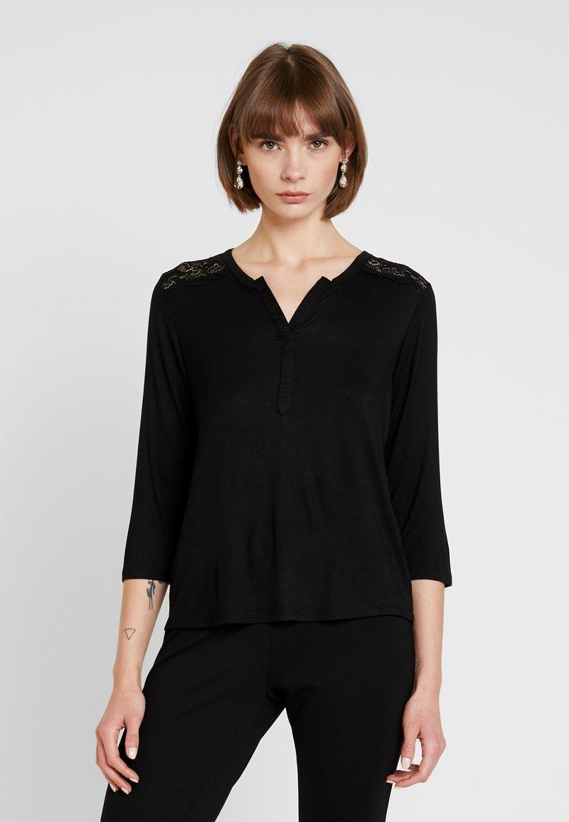 ONLY - ONLVIC V NECK - Langarmshirt - black