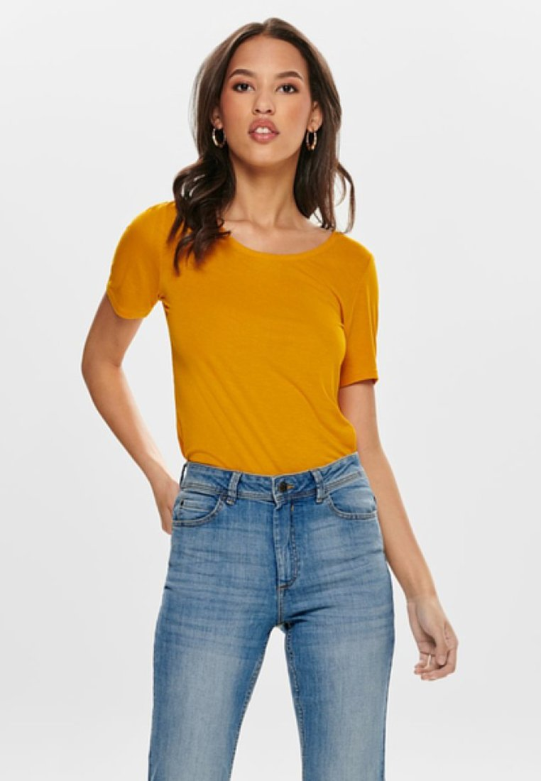 ONLY - ONLCARRIE - T-Shirt print - yellow