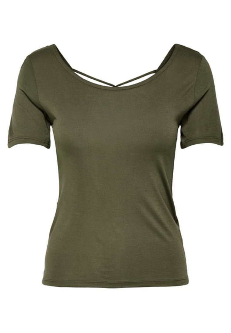 Only Onlcarrie - Print T-shirt Dark Green