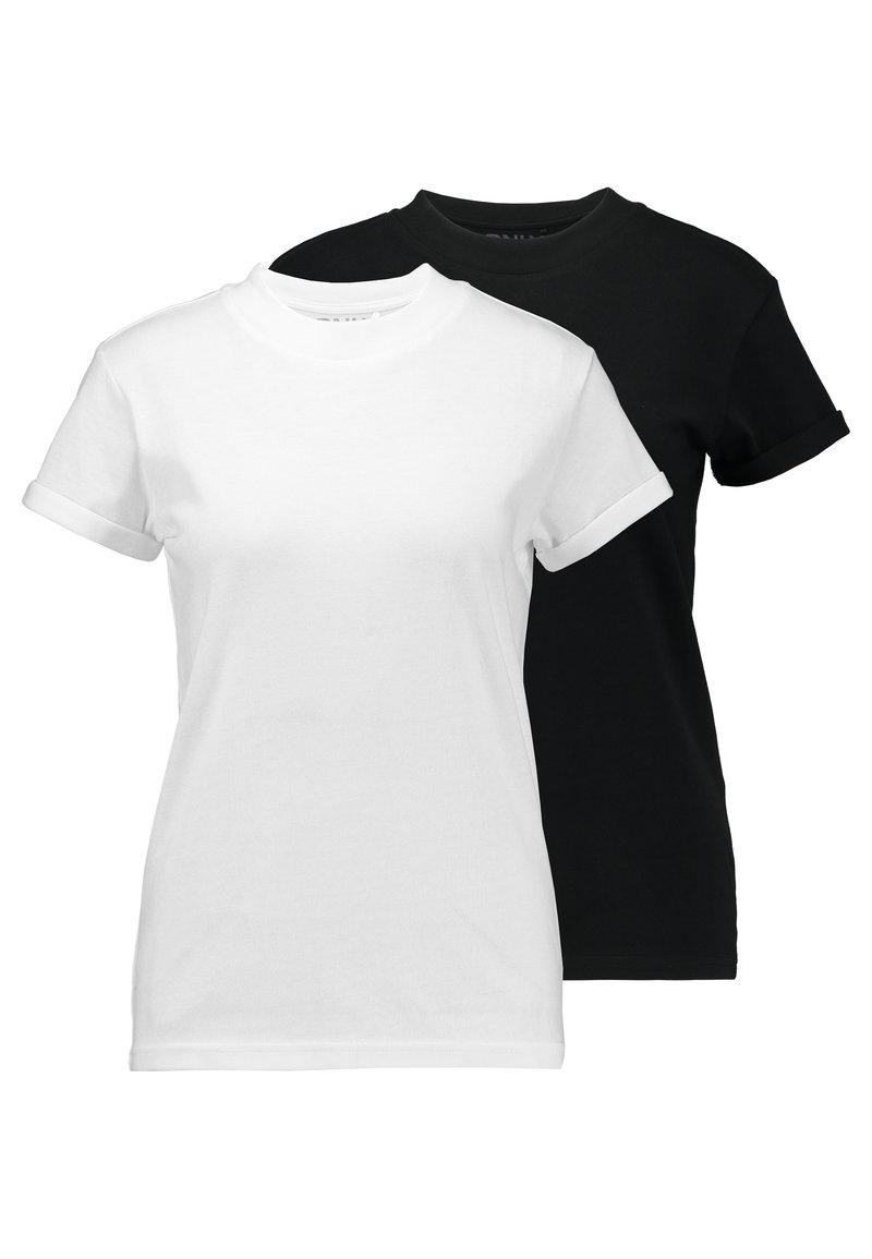 ONLY - ONLCRUZ TEE BOX 2 PACK  - T-Shirt basic - black/white