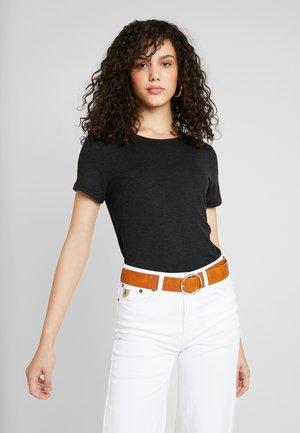 ONLMOSTER STRING - T-shirt med print - dark grey melange