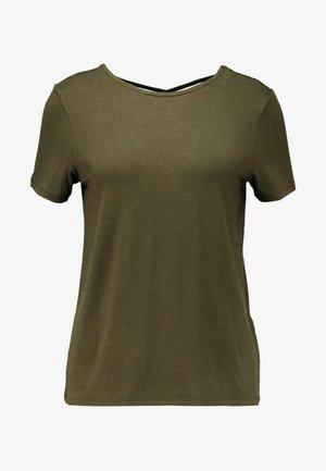 ONLMOSTER STRING - Print T-shirt - beech/melange