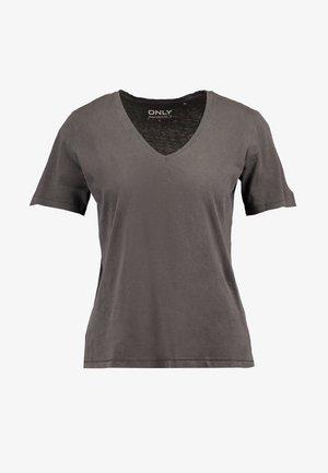 ONLONE  V NECK - Basic T-shirt - phantom