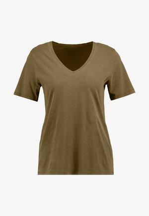 ONLONE  V NECK - T-shirts - beech