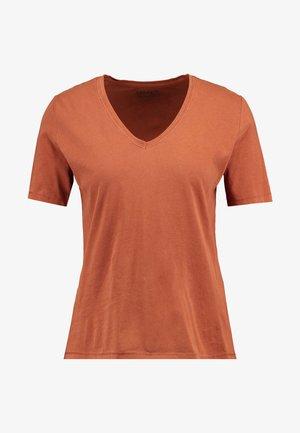 ONLONE  V NECK - Basic T-shirt - ginger bread
