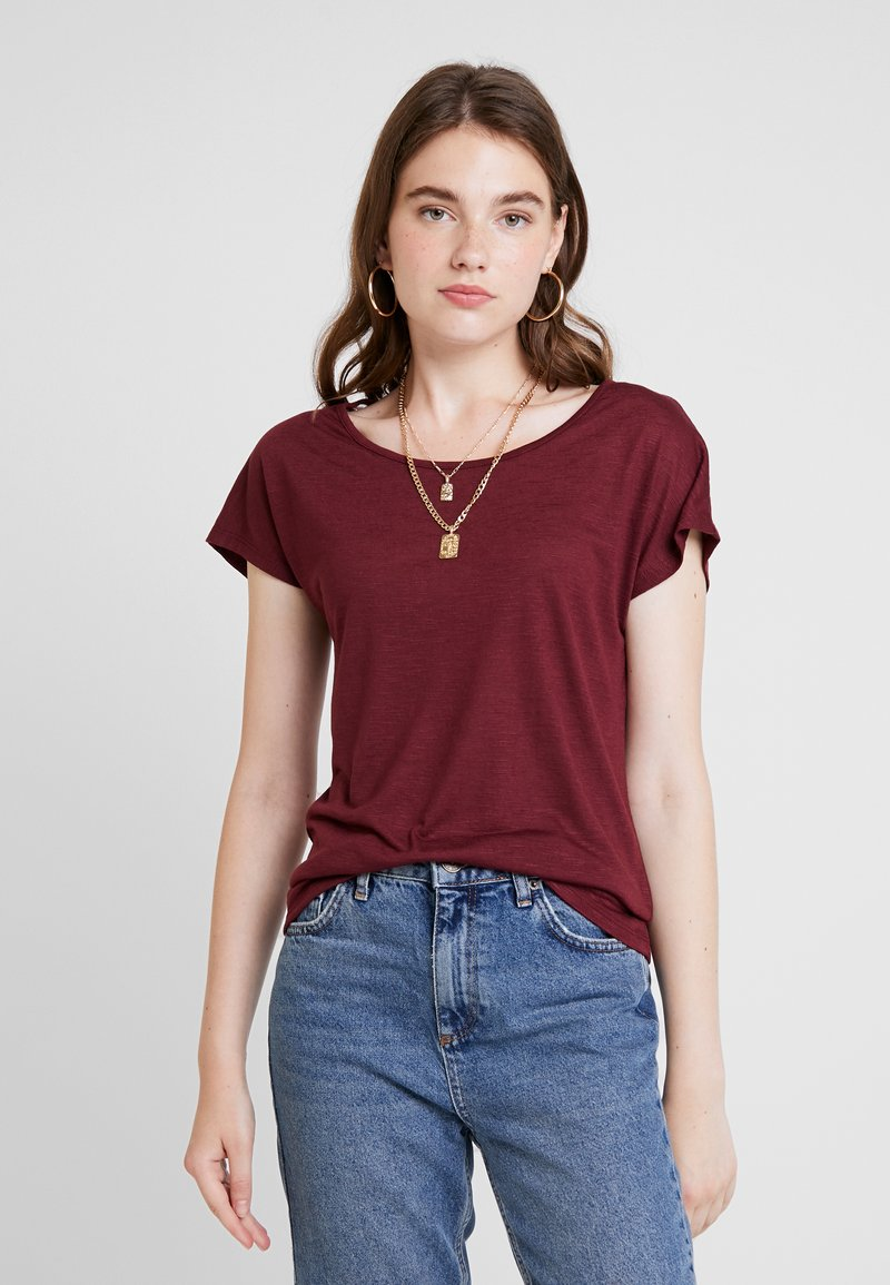 ONLY - ONLELENA - T-shirt med print - tawny port