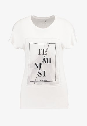 ONLBREE BAT MIX BOX - T-shirt con stampa - bright white