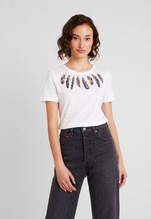 ONLKITA FEATHER - Print T-shirt - bright white