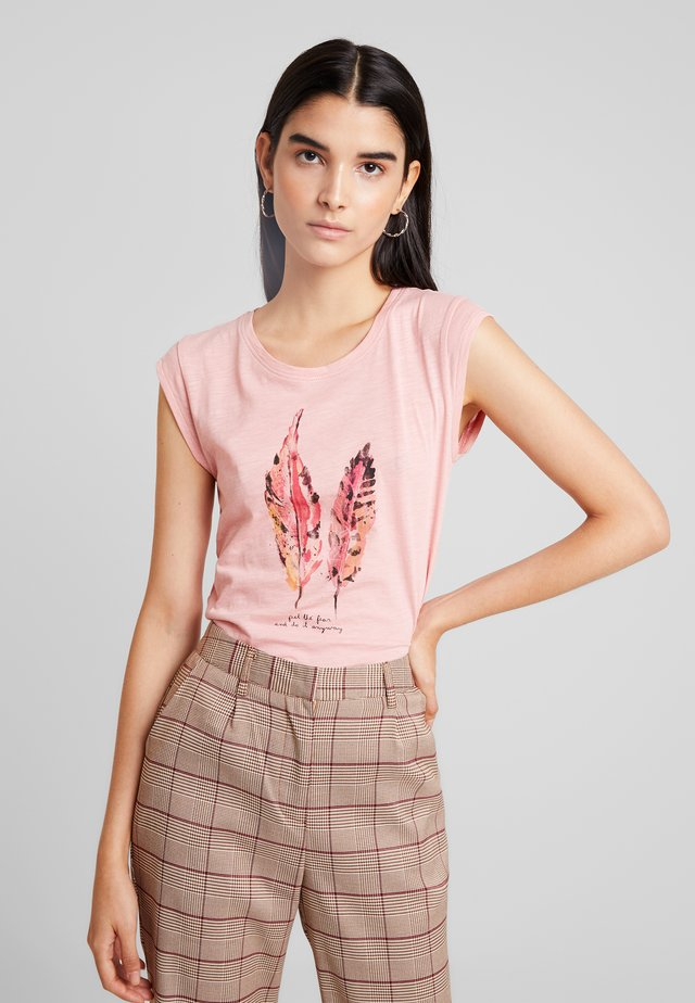 ONLBONE FEEL FEATHERS BOX - Camiseta estampada - blush
