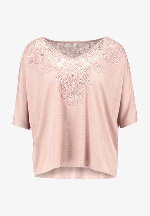 ONLCAMI LOOSE CROCHET - Print T-shirt - misty rose
