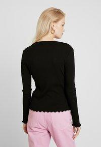 ONLY - ONLVIBEKE - Long sleeved top - black - 2
