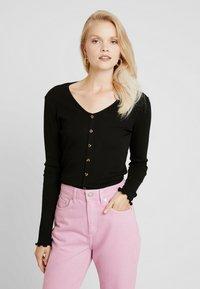 ONLY - ONLVIBEKE - Long sleeved top - black - 0