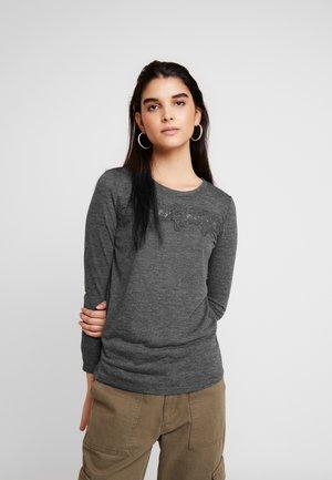ONLCAMERA - Camiseta de manga larga - dark grey melange