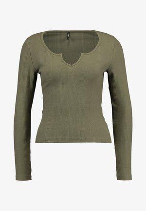 ONLELINA PLACKET - Maglietta a manica lunga - kalamata