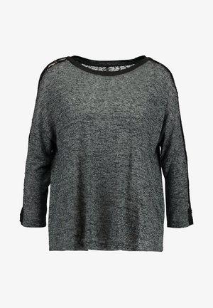 ONLRIE - Long sleeved top - dark grey melange/black