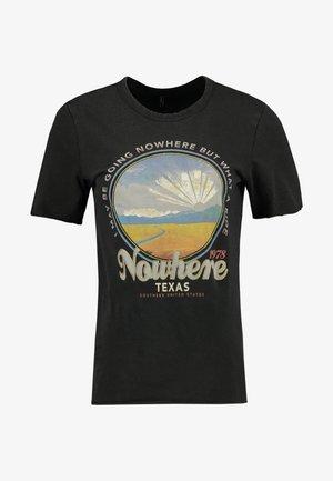 ONLLUCY ROAD TOP BOX ACID - Print T-shirt - black/nowhere