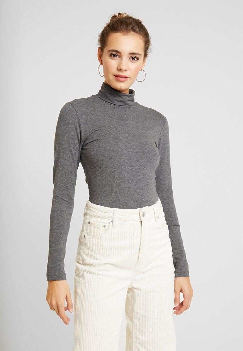 ONLY - ONLLIVE LOVE ROLL NECK - Long sleeved top - dark grey melange