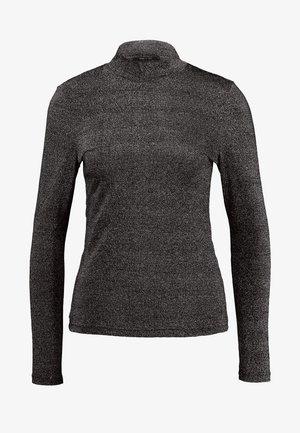 ONYGLADYS HIGH NECK GLITTER - T-shirt à manches longues - black/silver