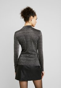ONLY - ONYGLADYS HIGH NECK GLITTER - Long sleeved top - black/silver - 2