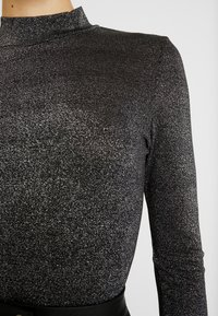 ONLY - ONYGLADYS HIGH NECK GLITTER - Long sleeved top - black/silver - 5