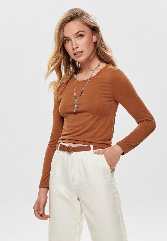 Camiseta de manga larga - brown