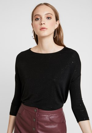 ONLSENSATION GLITTER - Long sleeved top - black