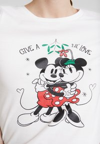 ONLY - ONLDISNEY FIT XMAS TOP BOX CO  - T-shirt con stampa - bright white/love - 5