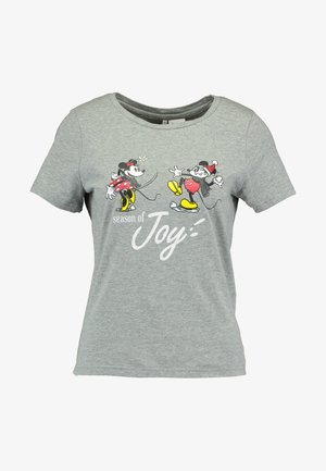 ONLDISNEY FIT XMAS TOP BOX CO  - T-Shirt print - light grey melange/joy