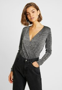 ONLY - ONLADELE  - Long sleeved top - black/silver - 0